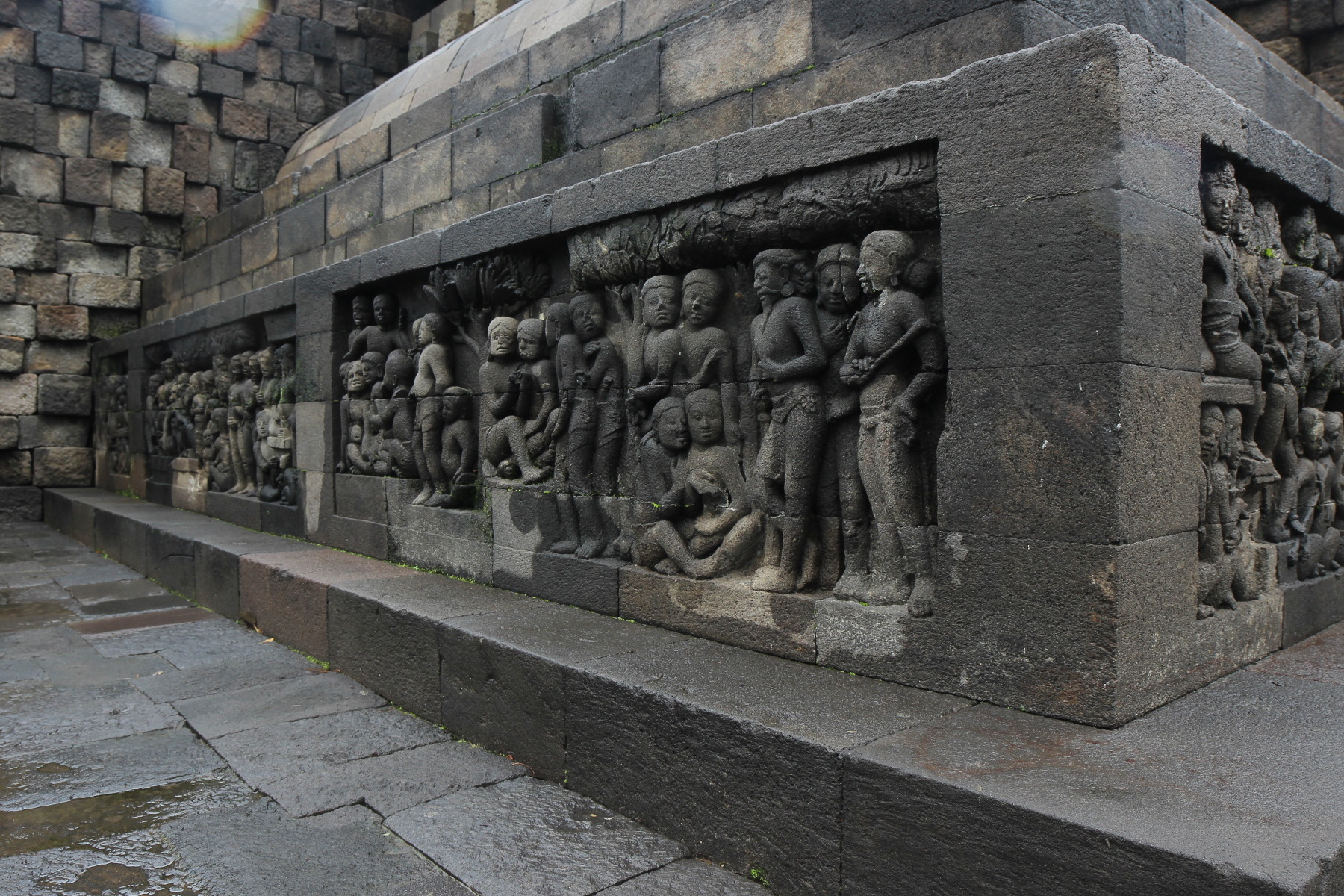 Sculpted wall