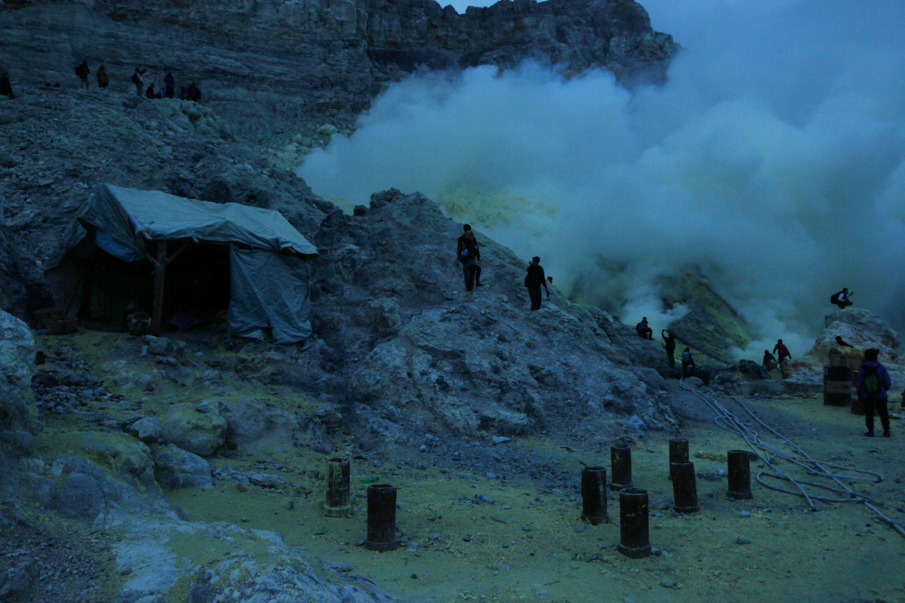 Ijen sulfur extraction place