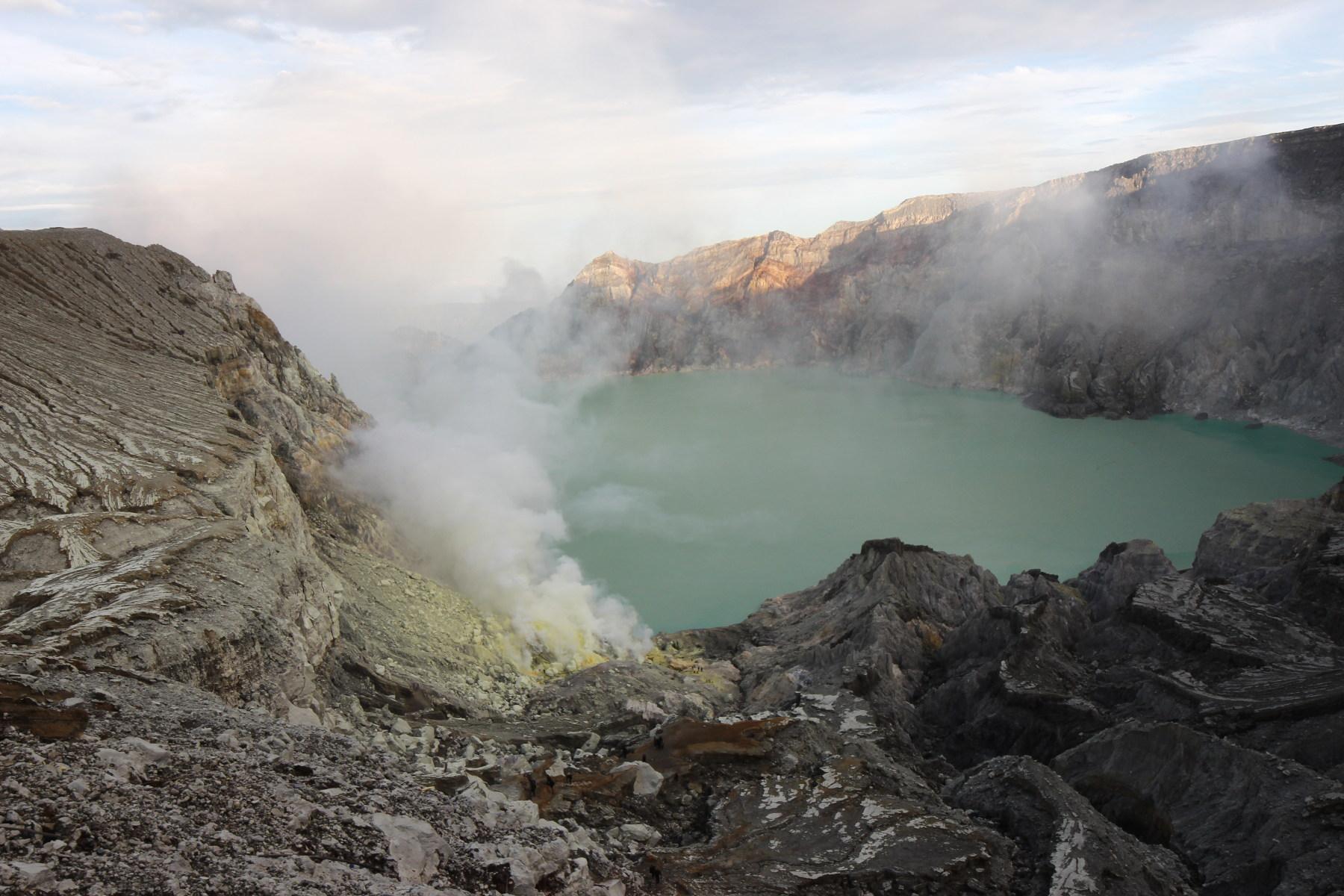 The Ijen lake